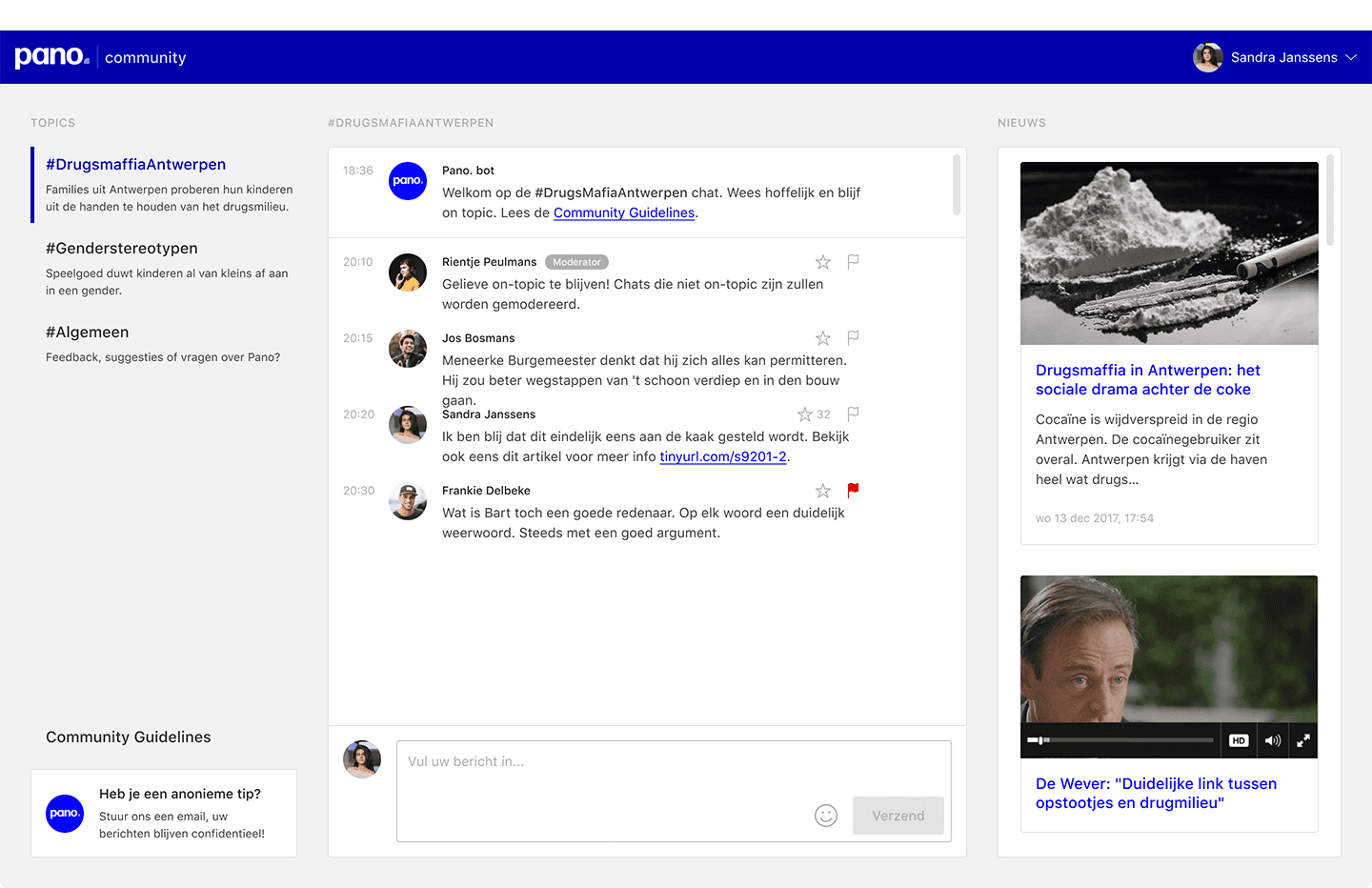Metachat desktop view
