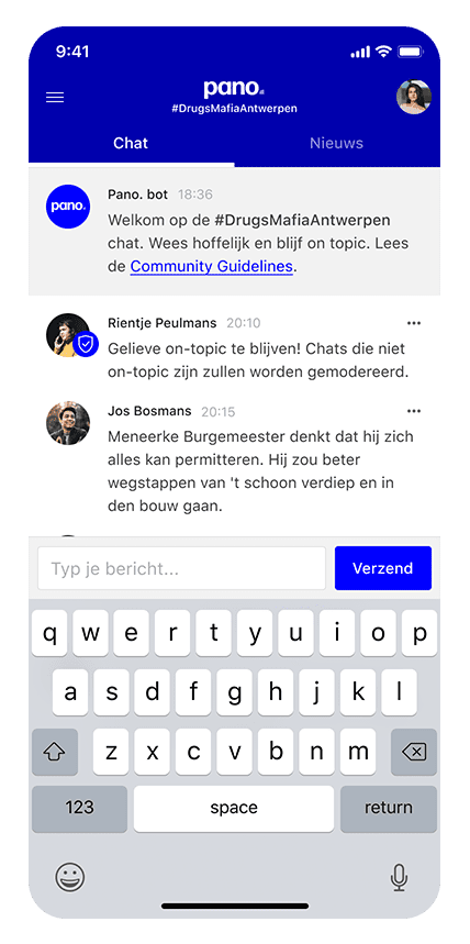 Metachat mobile view