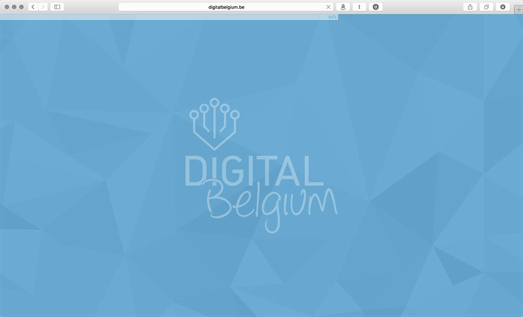 Image showing the Digital Belgium website with a progress bar.