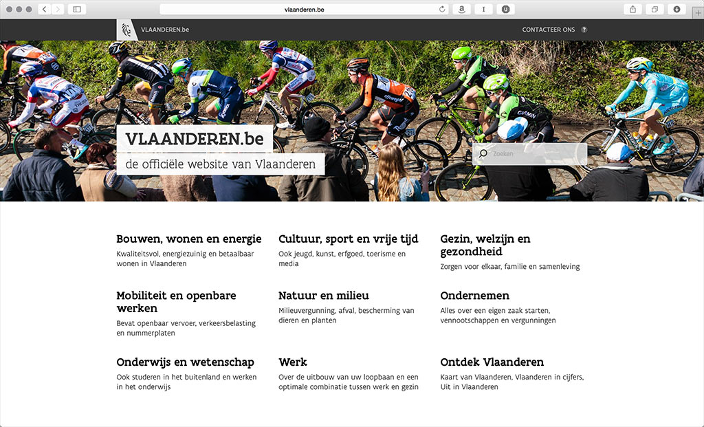 Image of the vlaanderen.be web portal.
