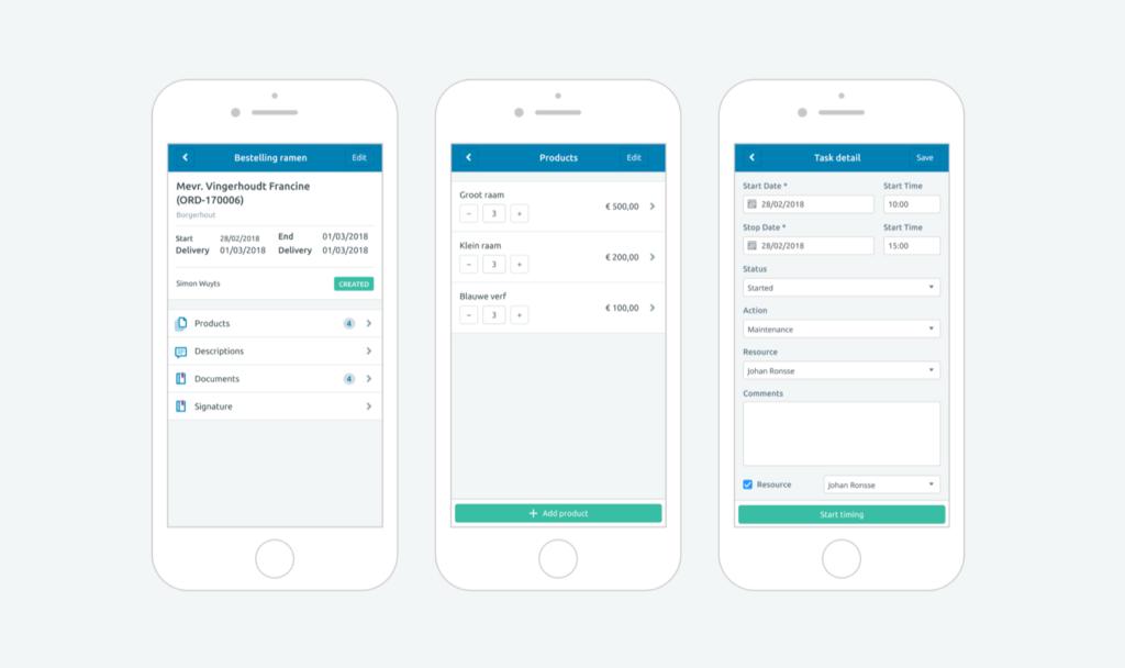 DeskDrive UI designs
