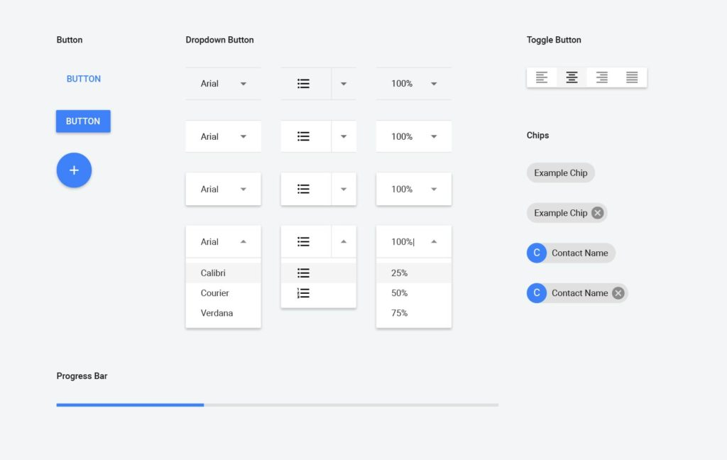 Material design components